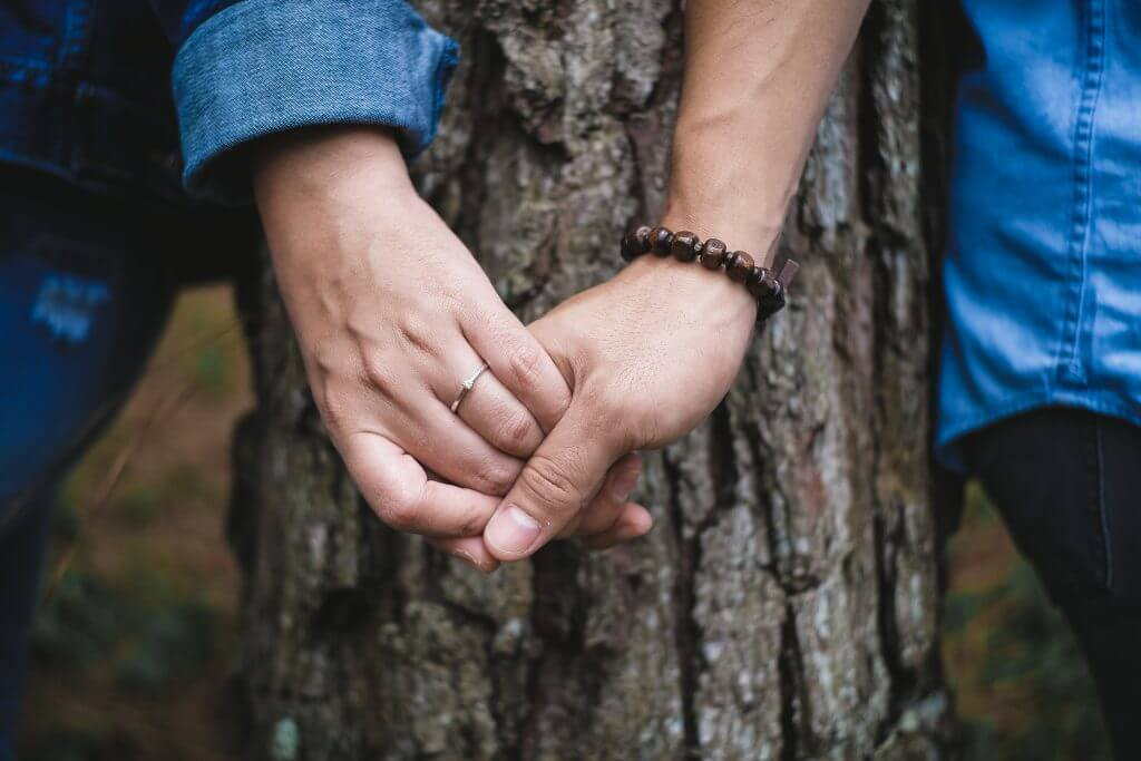 Lost connection with my partner - a man and woman holding hands