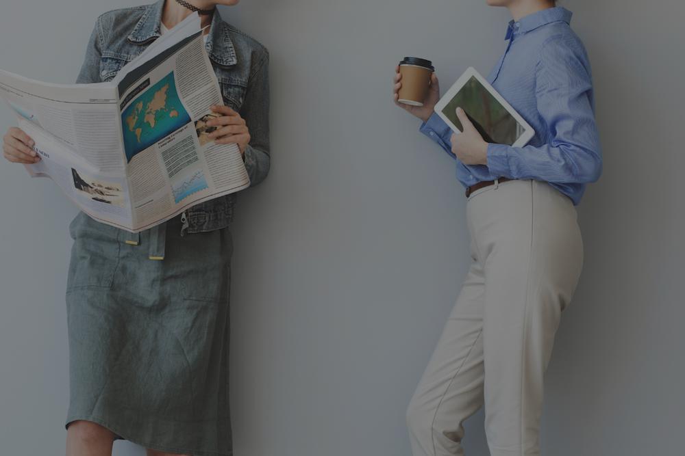 Professional women talking: Career advice for women